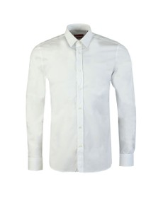 HUGO Mens White Elisha02 Long Sleeve Shirt