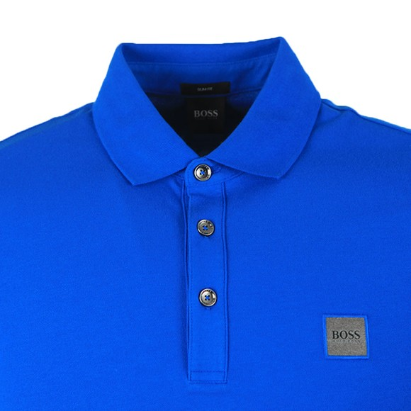 BOSS Mens Blue Casual Passenger Polo Shirt main image