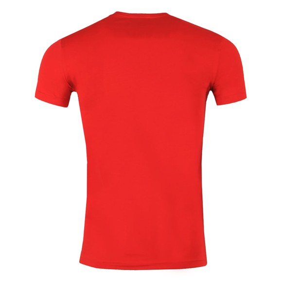 Emporio Armani Mens Red Stretch Chest Logo Crew T Shirt main image
