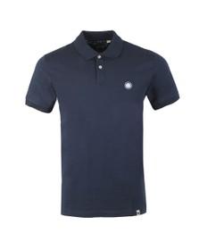 Pretty Green Mens Blue Jersey Polo Shirt
