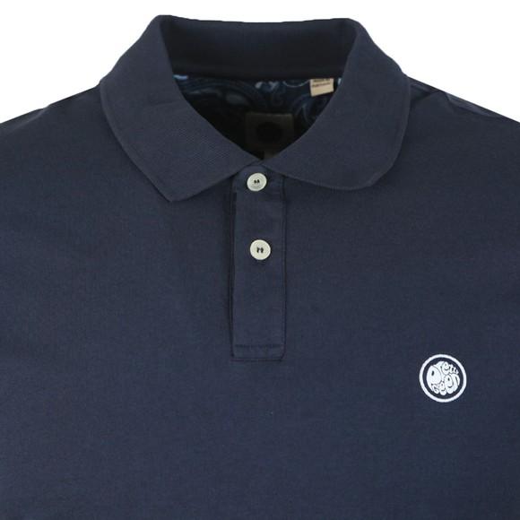 Pretty Green Mens Blue Jersey Polo Shirt main image
