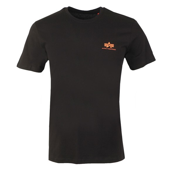Alpha Industries Mens Black Basic Small Logo T Shirt main image