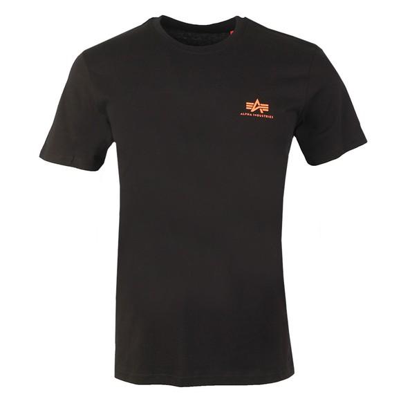 Alpha Industries Mens Black Basic Small Logo T Shirt