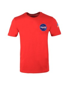 Alpha Industries Mens Red Space Shuttle T Shirt