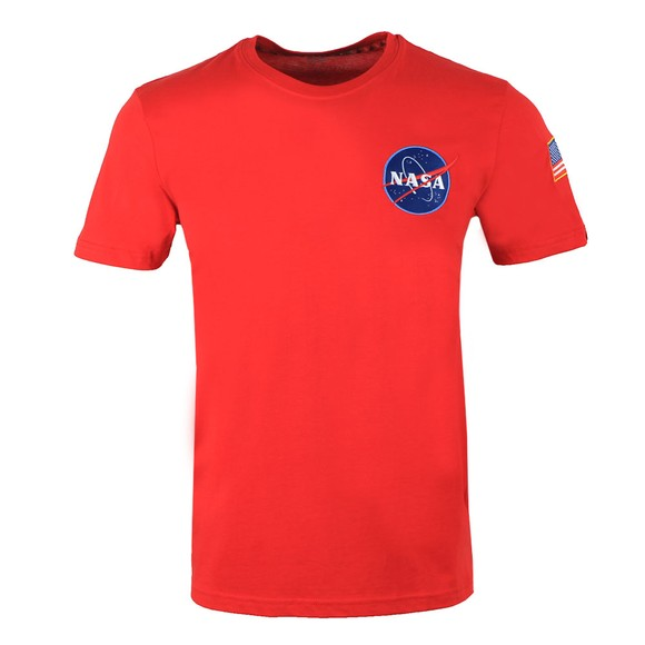 Alpha Industries Mens Red Space Shuttle T Shirt main image