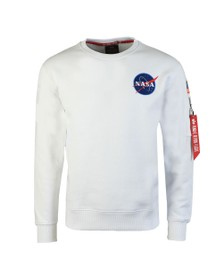 Alpha Industries Mens White Space Shuttle Sweatshirt
