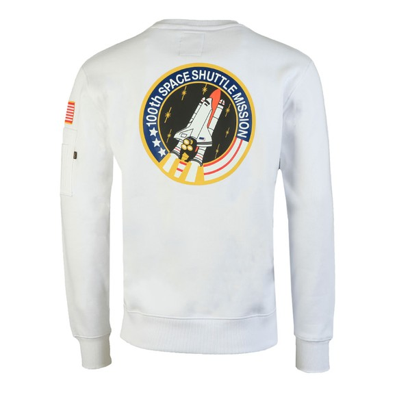 Alpha Industries Mens White Space Shuttle Sweatshirt main image