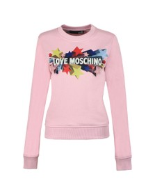Love Moschino Womens Pink Stelline Sweatshirt