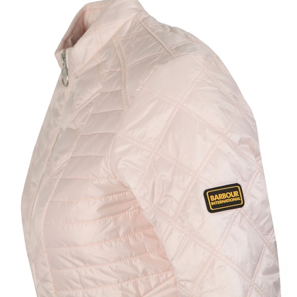 Barbour International Womens Pink Freethrow Quilted Jacket