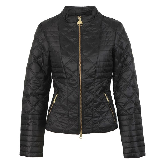 Barbour International Womens Black Freethrow Quilted Jacket