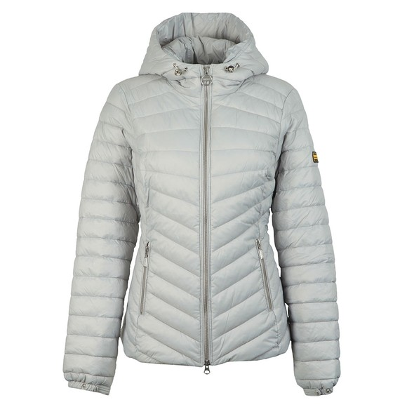 Barbour International Womens Grey Ringside Quilted Jacket
