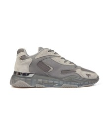 Mallet Mens Beige Lurus Clear Trainer