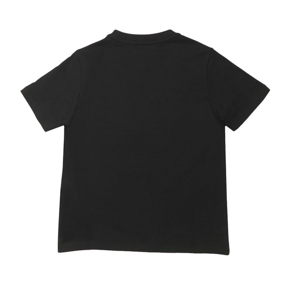 Emporio Armani Boys Black Boys Large Flock Logo T Shirt