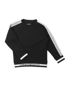 Emporio Armani Boys Black Mesh Tape Sweatshirt
