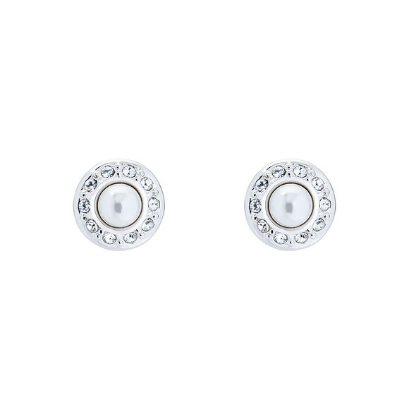 Ted Baker Womens Silver Larchi Daisy Pearl Stud Earring main image