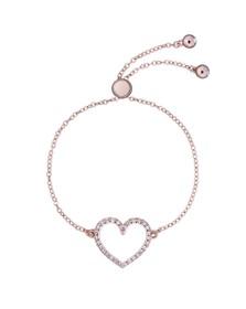 Ted Baker Womens Pink Leazina Luunar Pave Heart Bracelet