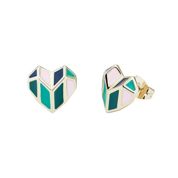 Ted Baker Womens Gold Dalli Deco Heart Stud Earring main image