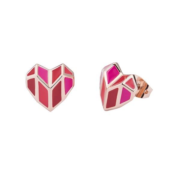 Ted Baker Womens Pink Dalli Deco Heart Stud Earring main image