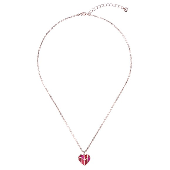 Ted Baker Womens Pink Dalzha Deco Heart Pendant main image