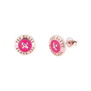 Eisley Enamel Mini Button Earrings