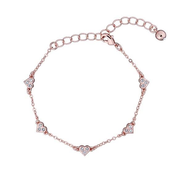 Ted Baker Womens Pink Neleaha Nano Heart Charm Bracelet
