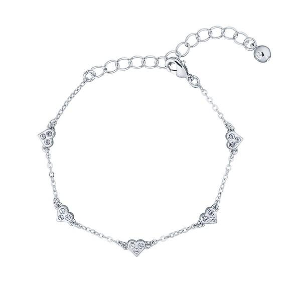Ted Baker Womens Silver Neleaha Nano Heart Charm Bracelet