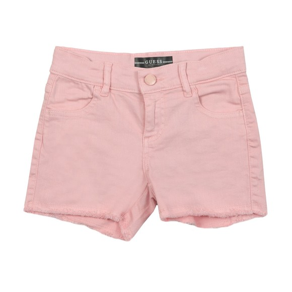 Guess Girls Pink Bull Denim Shorts