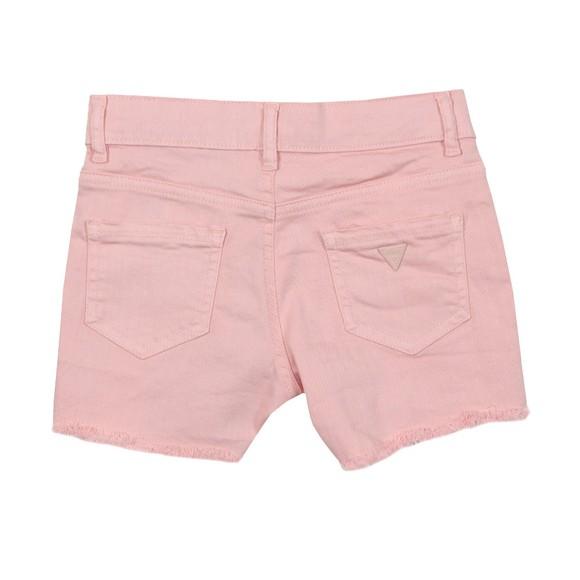 Guess Girls Pink Bull Denim Shorts