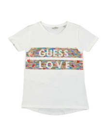 Guess Girls White High Low Short Sleeve T-Shirt
