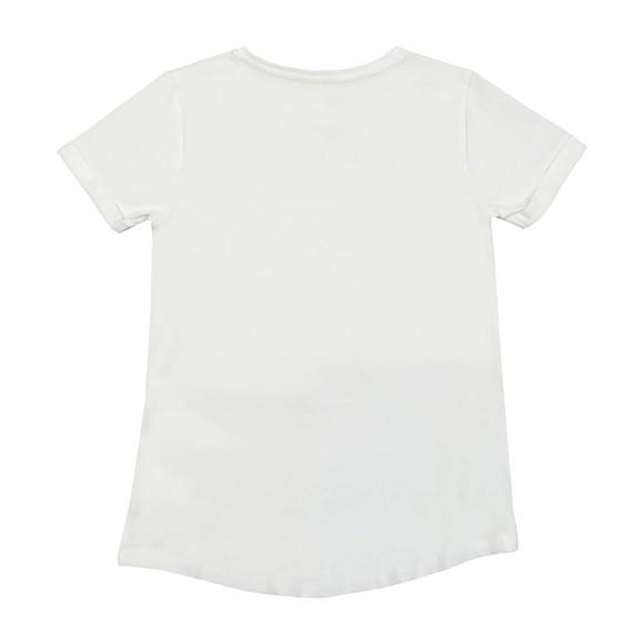 Guess Girls White High Low Short Sleeve T-Shirt