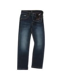 BOSS Boys Blue Detailed Back Pocket Jean