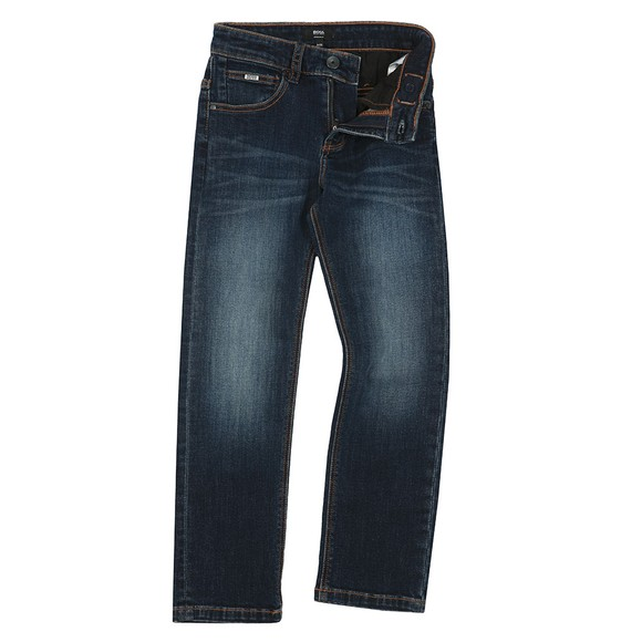 BOSS Boys Blue Detailed Back Pocket Jean