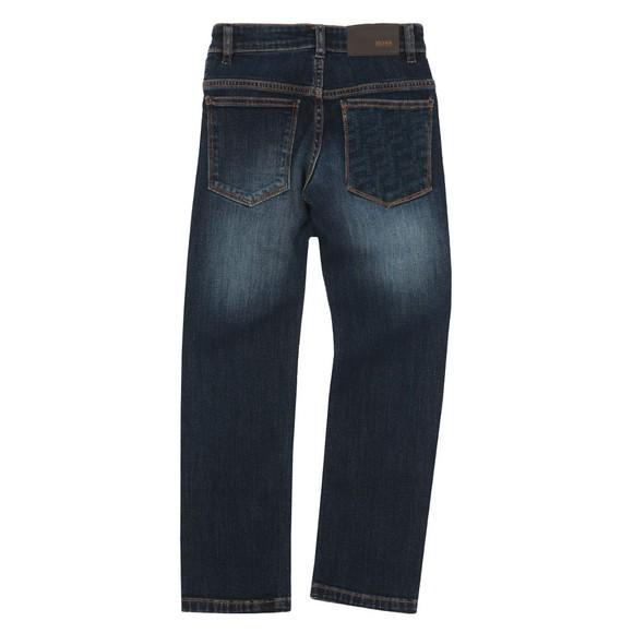 BOSS Boys Blue Detailed Back Pocket Jean main image