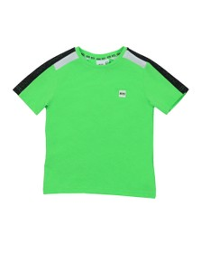 BOSS Boys Green Shoulder Taped T-Shirt