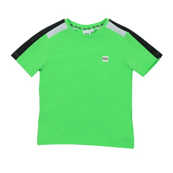 BOSS Boys Turquoise Shoulder Taped T-Shirt main image
