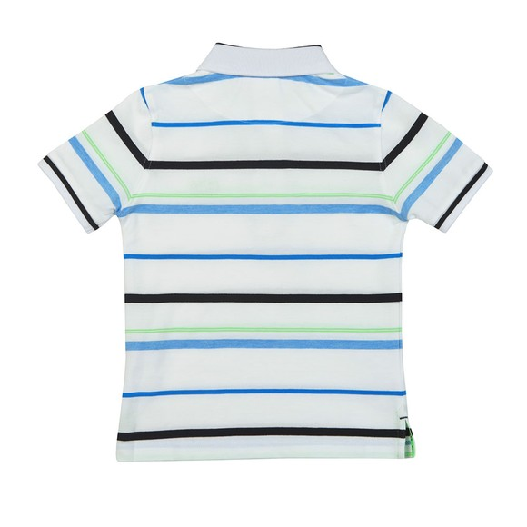 BOSS Boys Green Striped Polo Shirt main image