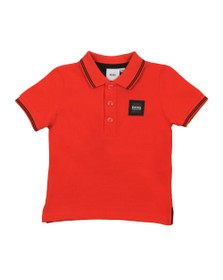 BOSS Baby Boys Orange Square Badge Polo Shirt