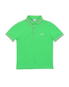 BOSS Boys Green Short Sleeve Twin Collar Polo Shirt