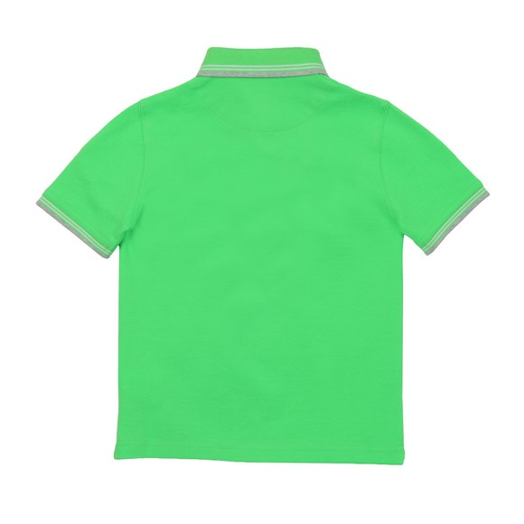 BOSS Boys Green Short Sleeve Twin Collar Polo Shirt main image
