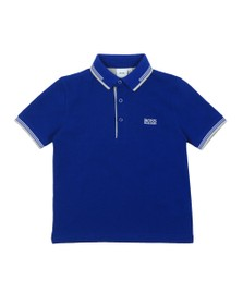BOSS Boys Blue Short Sleeve Twin Collar Polo Shirt