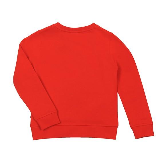 BOSS Boys Orange Curved Logo Sweatshirt main image
