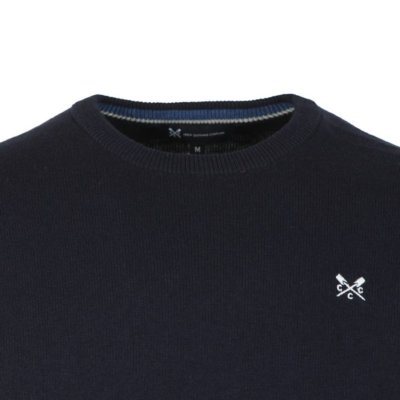 Crew Clothing Company Mens Blue Foxley Crew Neck Knit main image