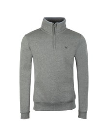 Crew Clothing Company Mens Grey Classic 1/2 Zip
