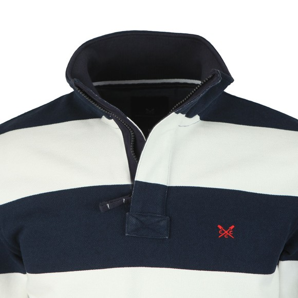 Crew Clothing Company Mens Blue Padstow Pique Sweatshirt