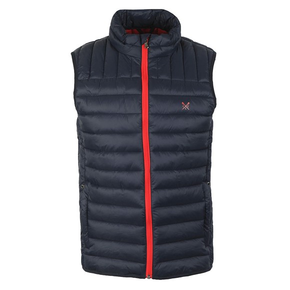 Crew Clothing Company Mens Blue Lowther Gilet
