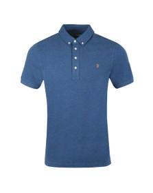 Farah Mens Blue Ricky Polo Shirt