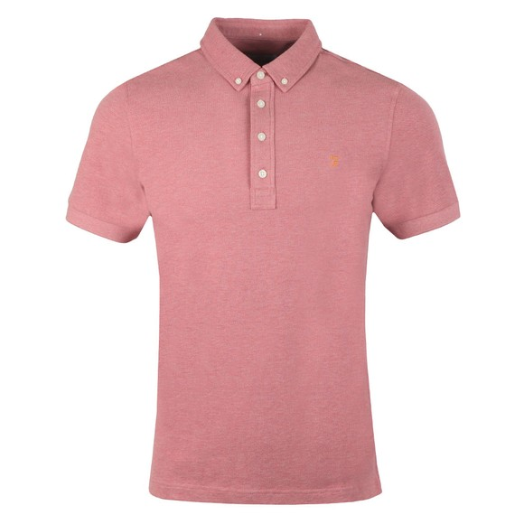 Farah Mens Red Ricky Polo Shirt