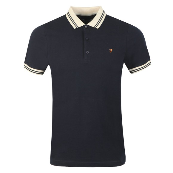 Farah Mens Blue Stanton Polo Shirt