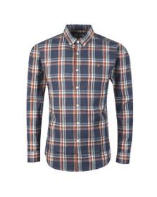 Farah Mens Blue L/S Steen Check Shirt