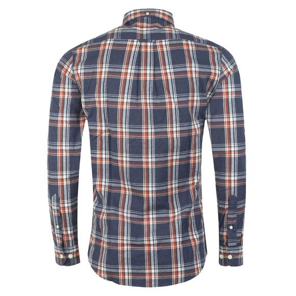 Farah Mens Blue L/S Steen Check Shirt main image